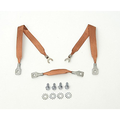 Eckler's Premier Quality Products 40139256 Full Size Chevy Ground Wire Strap Kit V8 & 6Cylinder ()