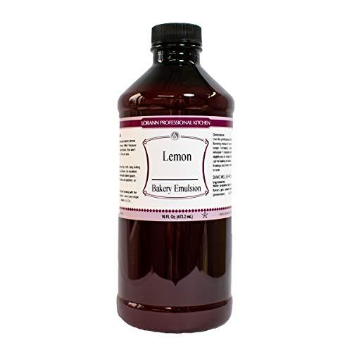 LorAnn Lemon Bakery Emulsion, 16 ounce bottle (Best Lemon Poppy Seed Muffin Recipe Ever)