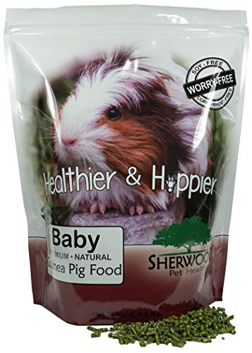 Sherwood Pet Health Guinea Pig Food, Baby (No Soy, Wheat or Corn)- 4.5 lb. (Vet Used)