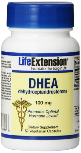 Life Extension DHEA Vegetarian Capsules, 100 mg, 60 comte