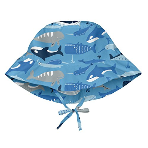 i play. Toddler Boys' Bucket Sun Protection Hat, Blue Whale League, 2T/4T