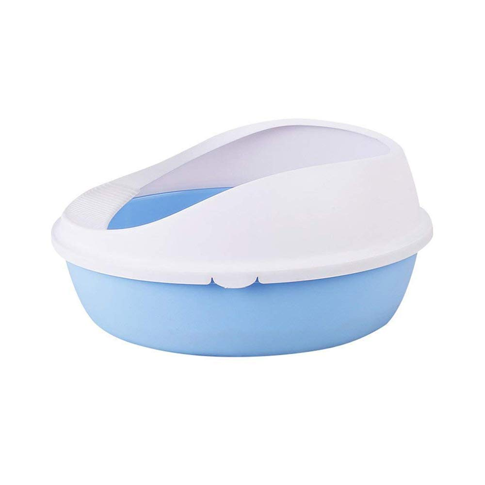 Top Entry Cat Litter Box Inlet Net Format Single-Layer Semi-Closed Cat Toilet,Anti-Splashing Height Easy to Clean, Durable(47x41x22cm)