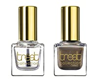treat collection Natural Nail Polish Duo, Top and Base Coat, Must Have, 2 Count