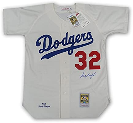 Sandy Koufax Authentic Hand Signed Auto Home 1963 Mitchell N Ness Jersey  w COA 46e5c5ee5d2