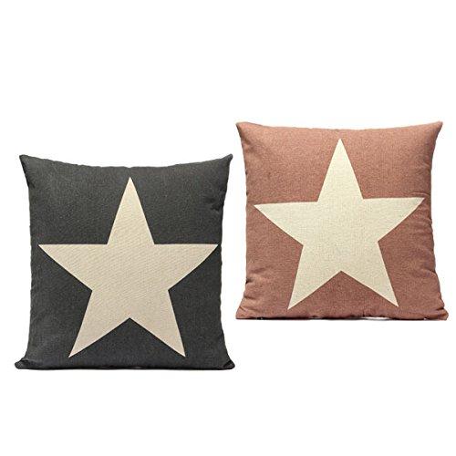 Pillow Cases - Linen Star Throw Pillow Car Cushion Cover Sofa Decorative - Paper Sensation Rest Lawsuit Hotshot Suit Ace Instance Headliner Example Stellar Type Wizard Subject - 1PCs (Bedding Meaning Sham)