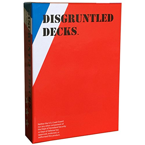 """Disgruntled Decks - The Original Military Party Card Game for Veterans - """"Coastie-themed"""" Deck"""