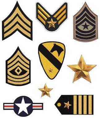 8 parches militar serigrafiados para planchar - REF.465-U8: Amazon.es: Hogar