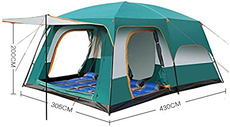 HWZPHH Tent,Wigwam,Large Tent Family Waterproof Double Layer