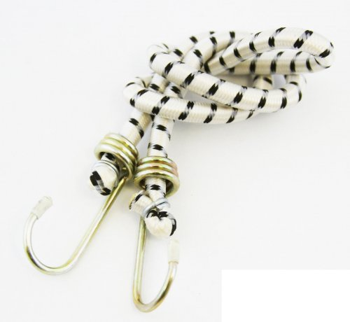 Safety Straps Bungee Cord 18'' Strap Cord White And Black Bag OF 6