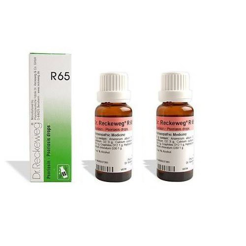 2 LOT X Dr. Reckeweg - Homeopathic Medicine - R65 - Psoriasis Drops - Homeopathic Remedies Psoriasis