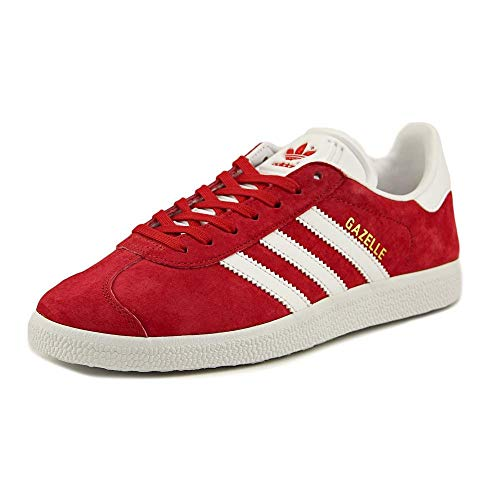 Adidas Originals Men's Gazelle Lace-up Sneaker,Powred/White/Goldmt,9 M US ()