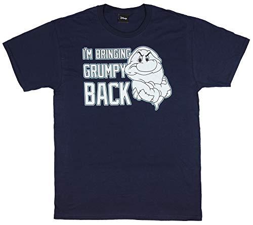 Disney I'm Bringing Grumpy Back Seven Dwarf Snow White Navy Cotton T-Shirt (XX-Large)