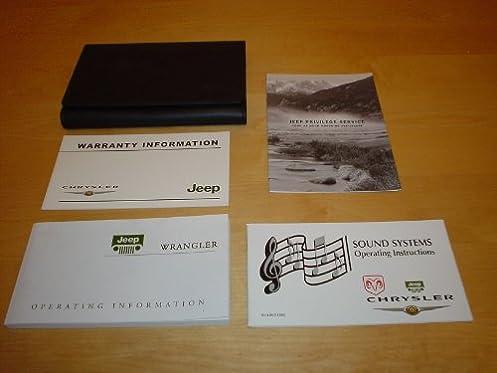 jeep wrangler owners manual handbook 1997 2006 tj se x sport rh amazon co uk 1997 Jeep Wrangler Colors 1997 jeep wrangler 4.0 owner's manual