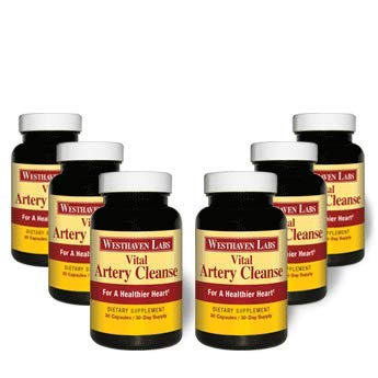 Vital Artery Cleanse Supplement for Heart Health Support, addresses Poor Circulation and clogged Arteries Caused by Plaque buildup. Supports Clean and Supple Arteries. 180 Day Supply.