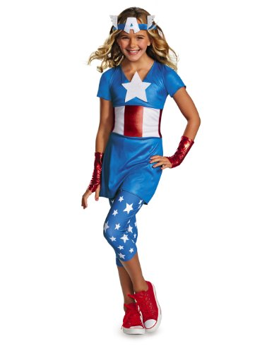 Disguise Marvel Captain America American Dream Tween Costume, X-Large (Captain Marvel Costume Pattern)