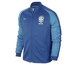 2016-2017 Brazil Nike Authentic N98 Track Jacket (Blue)