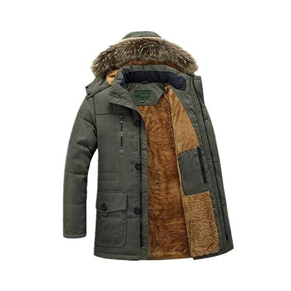 Eastway Hiver Manteau Hommes Molleton épais à Capuche Chaud Parkas