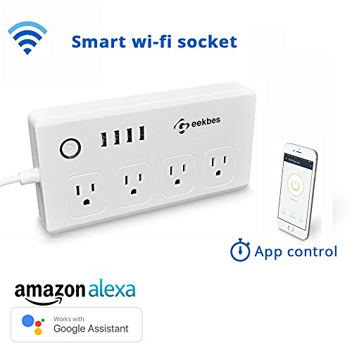 WiFi Smart Power Strip Compatible with Alexa,...