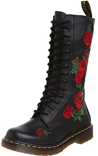 Vonda Red Eyelets Leather Womens Martens Dr Black 14 3 Boots tvq5xwX