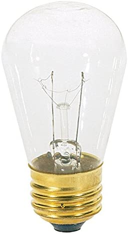 24 Clear Bulbs 11W E26 S14 Satco 11S14 Incandescent Indicator /& Sign