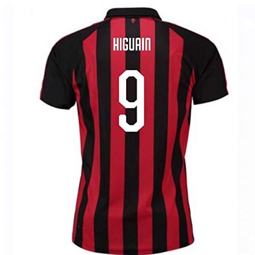 2018-2019 AC Milan Puma Home Football Soccer T-Shirt Jersey (Gonzalo Higuain 9)