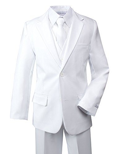 Spring Notion Boys' Modern Fit White Dress Suit Set -