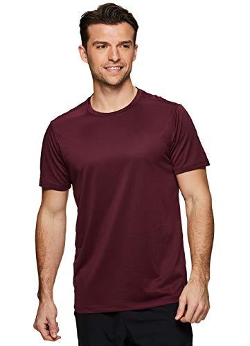RBX Active Men's Mesh Workout Gym Short Sleeve Crewneck T-Shirt SP.19 Red M