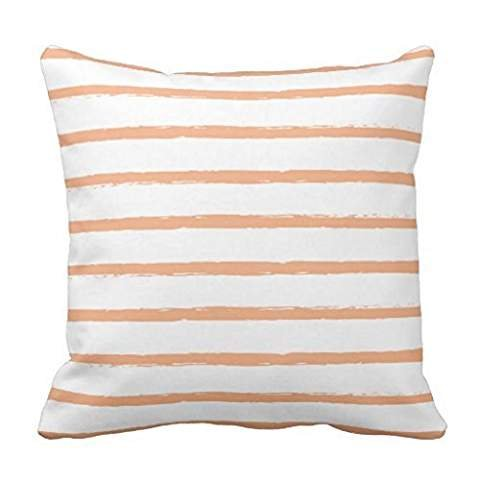 Textured Stripes Lines Peach Orange Sherbet Modern Throw pillowcase Pillow shams case Cushion Cover 2020