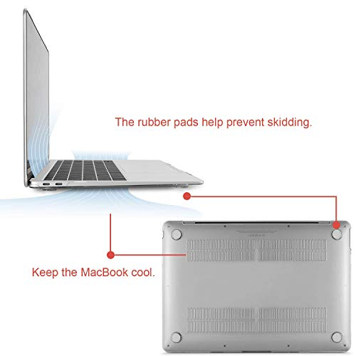 MOSISO MacBook Air 13 Inch Case 2018 Release A1932 with Retina Display, Plastic Hard Shell & Keyboard Cover & Screen Protector & Storage Bag Only Compatible Newest MacBook Air 13, Crystal Clear by MOSISO (Image #5)
