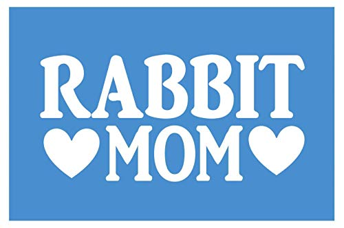 EZ-STIK Rabbit Mom stickerH326 8.5 inch Wide Vinyl cage Food lop earred Easter