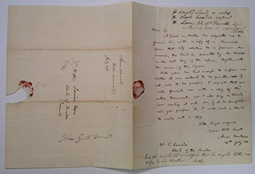 (Autographed Letter Signed by Andrew Jackson's Postmaster General)