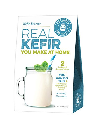 Kefir Starter Culture | Cultures for Health | Easy To Maintain Kefir Culture Powder | Non GMO, Gluten Free | May Be Used With A Dairy Or Water Base | 2 Packs Of Starter Powder In A Box