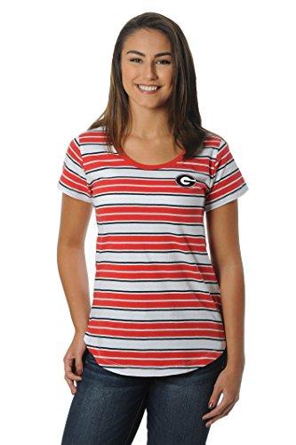 UG Apparel NCAA Georgia Bulldogs Women's Tailgate Tee, Large, Red/Black ()