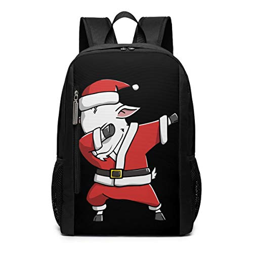 Ugly Goat - Dabbing Goat Ugly Christmas Sweater Repellent School Travel Backpack Casual Daypack For Business/College/Women/Men
