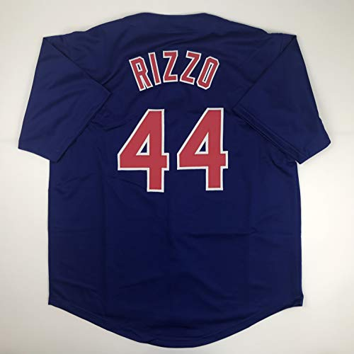 Unsigned Anthony Rizzo Chicago Blue Custom Stitched Baseball Jersey Size Men's XL New No Brands/Logos ()