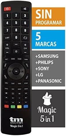 TM Electron TMURC501 - Mando a distancia universal Magic 5 en 1 compatible con televisores de grandes marcas, no necesita programación ni códigos: Amazon.es: Electrónica
