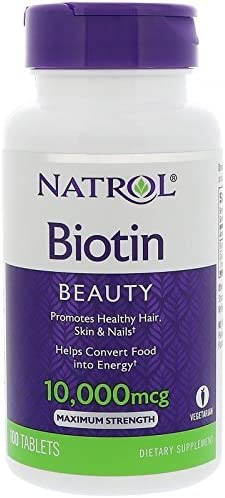 پتاسیم Natolol Biotin Maximum Strength Tablets، 10000 میکروگرم، 100 عدد