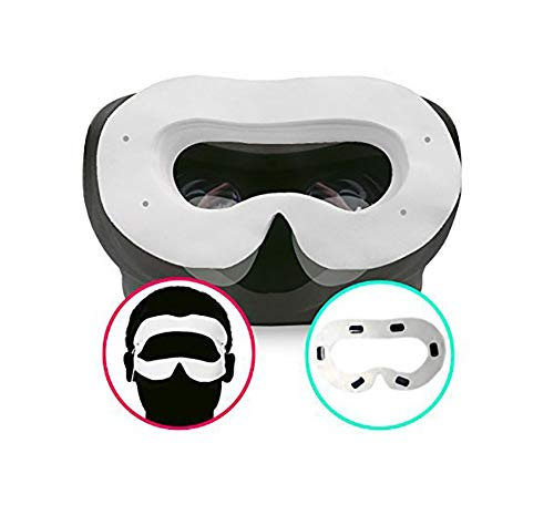 T&B Disposable Oculus Rift CV1 VR Mask 2 Ways To Use Hygiene White Replaceable Blinder Replacement Accessories for Oculus Rift Virtual Reality Headset 50 Pc by T&B (Image #5)