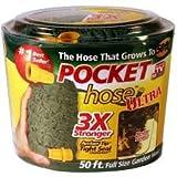 Pocket Hose Ultra Expandable (50 Feet 3X Stronger, Green)