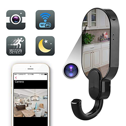 - Yumfond Hidden Spy Camera, WiFi Clothes Hook HD 1080P Nanny Cam, Night Vision Motion Detection Loop Recording Home Security DVR Video Recorder (Video Only)