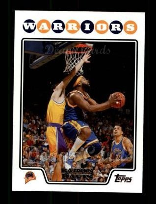 Baron Davis Warriors (2008 Topps # 60 Baron Davis Golden State Warriors (Basketball Card) Dean's Cards 8 - NM/MT Warriors)