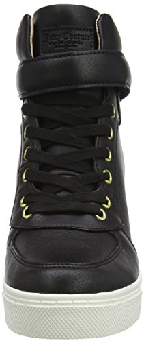 Juicy Couture Lookkout Lace Up Wedge Trainer - Zapatillas Mujer Negro (Black Multi)