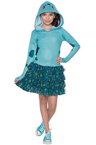 Rubie's Costume Pokemon Bulbasaur Child Hooded Costume Dress Costume, Large]()