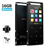 MP3 Player with Bluetooth ,16GB Music player with FM Radio/ Voice Recorder,HIFI Lossless Sound Quality ,Metal, Alarm Clock, Touch button, HD Sound Quality Earphone , 2019 newest model, with an Armband