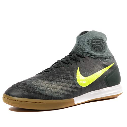 Nike Magistax Proximo II IC Mens Indoor Competition Football Boots 843957 Soccer Cleats (UK 9.5 US 10.5 EU 44.5, Seaweed Volt Hasta 374) (Blue And Green Nike Indoor Soccer Shoes)