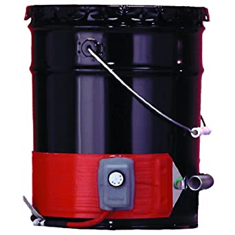 BriskHeat DHCH10 DHCH Extra Heavy Duty Metal Pail Heater, Fits 5-Gallon Pails, 3-Layer Reinforced Silicone Rubber, W x L: 4 x 35-Inch, Diameter: 11.1-Inch, 120VAC