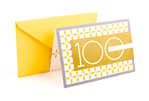 Hallmark 100th Birthday Greeting Card (Circle Pattern)