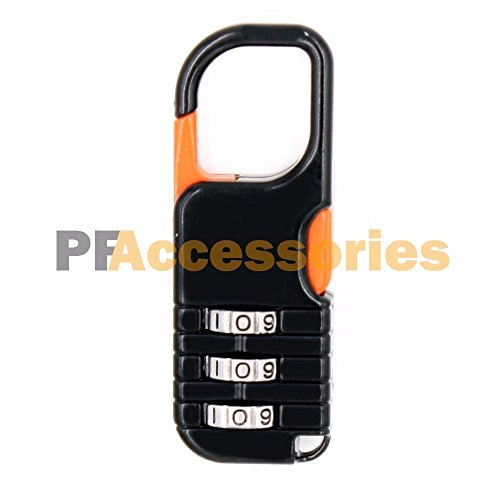 Mini Cute 3 Digit Resettable Combination Travel Luggage Suitcase Lock Padlock