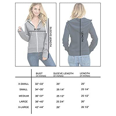 esstive Women's Ultra Soft Fleece Basic Casual Solid Midweight Zip-Up Hoodie Jacket: Clothing