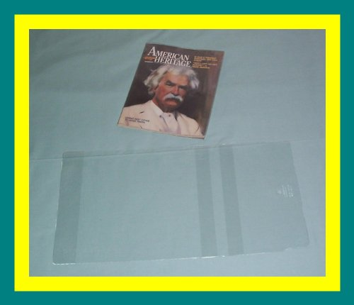 """Pkg of 5 Brodart Vinyl Slip-Covers Mix-n-Match -- Sizes 11 1/8"""" - 12 3/16"""""""